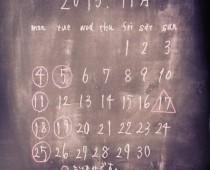 2013年11月の定休日