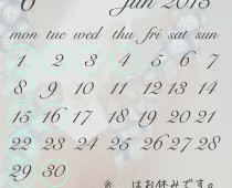 2015年6月の営業日