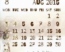 2015年8月の営業日