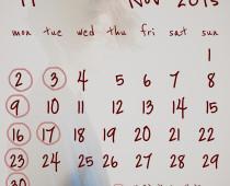 2012年11月の営業日