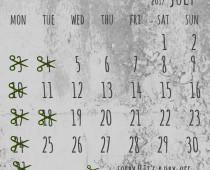 2017年7月の営業日