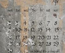 2018年4月の営業日
