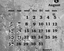 2018年8月の営業日